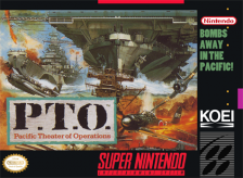 P.T.O. - Pacific Theater of Operations Nintendo Super NES cover artwork