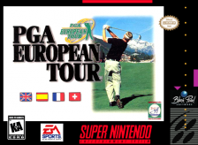 PGA European Tour Nintendo Super NES cover artwork