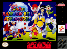 Pop'n TwinBee - Rainbow Bell Adventures Nintendo Super NES cover artwork