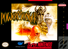 PowerMonger Nintendo Super NES cover artwork
