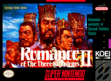 Romance of the Three Kingdoms II Nintendo Super NES cover artwork