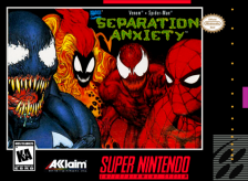 Spider-Man & Venom - Separation Anxiety Nintendo Super NES cover artwork