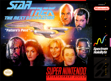 Star Trek - The Next Generation - Future's Past Nintendo Super NES cover artwork