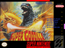 Super Godzilla Nintendo Super NES cover artwork