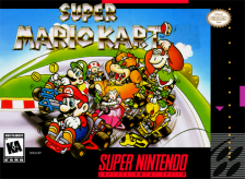 Super Mario Kart Nintendo Super NES cover artwork