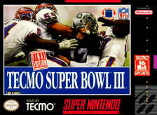 Tecmo Super Bowl III - Final Edition Nintendo Super NES cover artwork