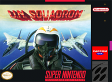 U.N. Squadron Nintendo Super NES cover artwork