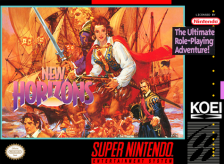 Uncharted Waters - New Horizons Nintendo Super NES cover artwork