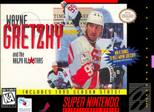 Wayne Gretzky and the NHLPA All-Stars Nintendo Super NES cover artwork