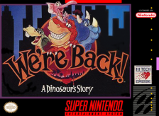 We're Back! - A Dinosaur's Story Nintendo Super NES cover artwork