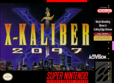 X-Kaliber 2097 Nintendo Super NES cover artwork