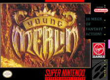 Young Merlin Nintendo Super NES cover artwork