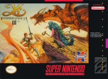 Ys III - Wanderers from Ys Nintendo Super NES cover artwork