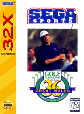 Golf Magazine 36 Great Holes Starring Fred Couples Sega 32X cover artwork