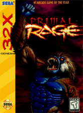 Primal Rage Sega 32X cover artwork
