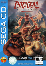 Brutal - Paws of Fury Sega CD cover artwork