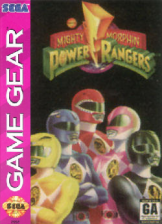 Mighty Morphin Power Rangers Sega Game Gear cover artwork