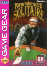 Poker Faced Paul's Solitaire Sega Game Gear cover artwork