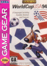 World Cup USA 94 Sega Game Gear cover artwork
