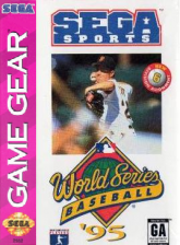 World Series Baseball '95 Sega Game Gear cover artwork