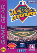 World Series Baseball Sega Game Gear cover artwork