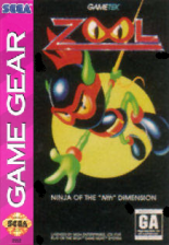Zool Sega Game Gear cover artwork