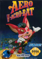 Aero the Acro-Bat Sega Genesis cover artwork