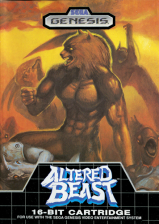 Altered Beast Sega Genesis cover artwork