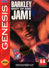 Barkley Shut Up and Jam! Sega Genesis cover artwork