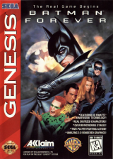 Batman Forever Sega Genesis cover artwork