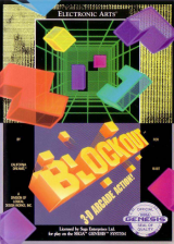 Blockout Sega Genesis cover artwork