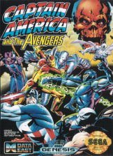 Captain America and the Avengers Sega Genesis cover artwork