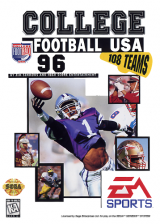College Football USA 96 Sega Genesis cover artwork