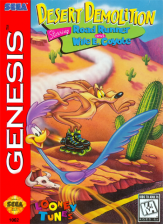 Desert Demolition Starring Road Runner and Wile E. Coyote Sega Genesis cover artwork