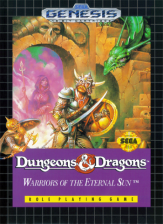 Dungeons & Dragons - Warriors of the Eternal Sun Sega Genesis cover artwork