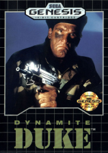 Dynamite Duke Sega Genesis cover artwork