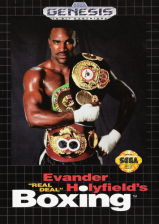Evander Holyfield's 'Real Deal' Boxing Sega Genesis cover artwork