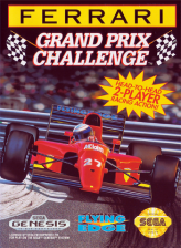 Ferrari Grand Prix Challenge Sega Genesis cover artwork