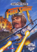 Fire Shark Sega Genesis cover artwork
