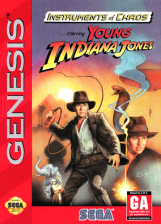 Instruments of Chaos Starring Young Indiana Jones Sega Genesis cover artwork