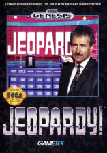 Jeopardy! Sega Genesis cover artwork