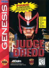 Judge Dredd Sega Genesis cover artwork