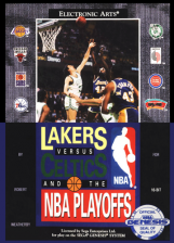 Lakers versus Celtics and the NBA Playoffs Sega Genesis cover artwork