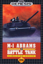M-1 Abrams Battle Tank Sega Genesis cover artwork