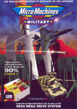 Micro Machines Military Sega Genesis cover artwork