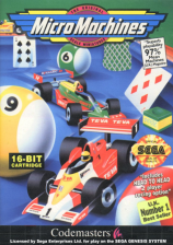 Micro Machines Sega Genesis cover artwork