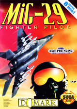 Mig-29 Fighter Pilot Sega Genesis cover artwork
