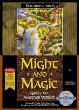 Might and Magic - Gates to Another World Sega Genesis cover artwork