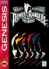 Mighty Morphin Power Rangers - The Movie Sega Genesis cover artwork