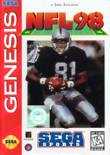 NFL 98 Sega Genesis cover artwork